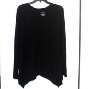 Lane Bryant VNeck Long Sleeve Black Shirt 18/20